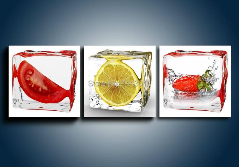 Sprey Müasir Abstrakt Meyvə Ev Divar Dekorasiya Yağlı Rəsm - Ev dekoru - Fotoqrafiya 2