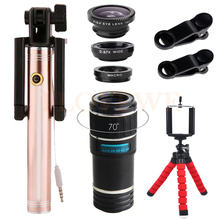 Cheap price Fisheye Wide Angle Macro Lens 12X Telephoto Zoom Lenses Telescope Fish eye lentes For iPhone 4 5C 5S 6 6S 7 Plus Phone Lents