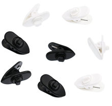 4 Pcs White & 4 Pcs Black Clips for Most Monster, Sony, Sennheiser and Plantronics Headset, Pack of 8