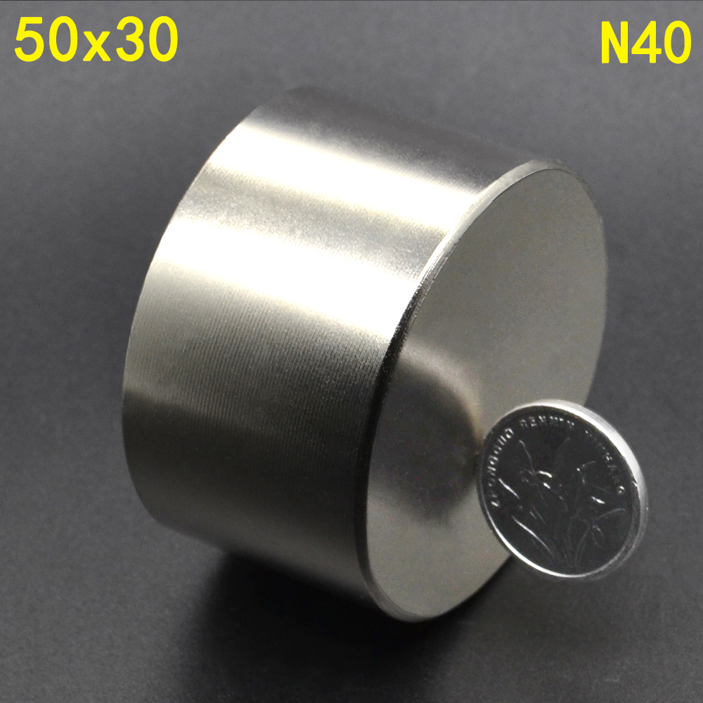 Image 3 - 1Pcs N52 50 x 30 Permanent Round Magnet 50*30 50mm x 30mm Big Super Strong Powerful Neodymium Magnet-in Magnetic Materials from Home Improvement