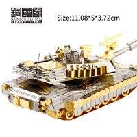 Jouet Enfant Color 3D Metal Puzzles Model For Adult Kids DIY Jigsaw M1A2 Abrams Tanks Educational