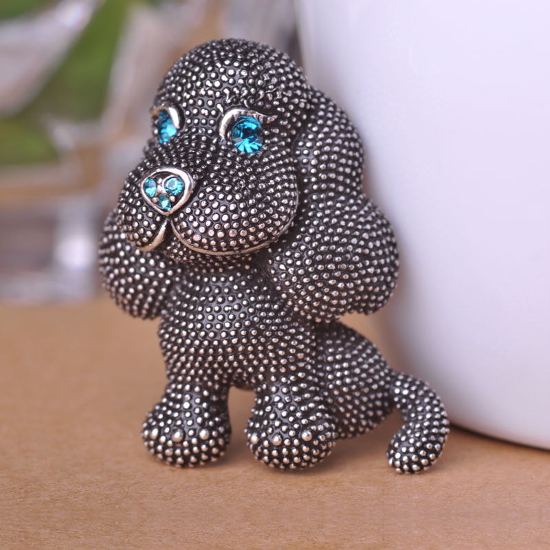 Royal Cute Dalmatians Dog Animal Brooches Vintage Jewelry Turquoise Zircon font b Hat b font Accessories