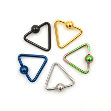 1pcs/2pcs Eyebrow Rings Triangle ear Piercings Tragus Nose Nipple Ring Bar Lips Body Piercing Jewelry for women men