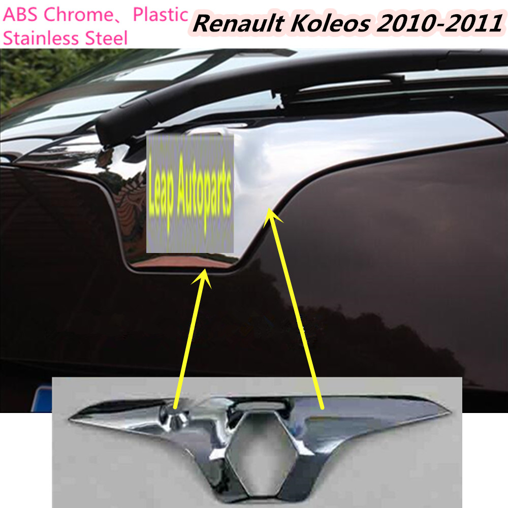 ABS chrome Rear door License tailgate bumper frame plate trim lamp trunk 1pcs for Renault Koleos 2010 2011 Free shipping high quality for qashqai 2016 car body styling cover detector abs chrome rear door bottom tailgate frame plate trim lamp 1pcs