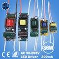 Бесплатная доставка 1pce 1-3 Вт 4-7 Вт 8-12 Вт 12-18 Вт 18-24 Вт 25-36 Вт LED свет драйвер трансформатор переходник питания для светодиодных чипов лампы