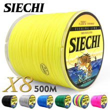SIECHI PE плетеная леска Multifilament 500 м 8 нитей шнур Карп рыболовные линии для морской 20 30 40 50 60 60 80LB