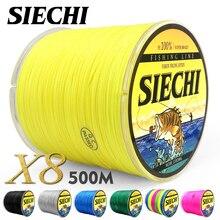 SIECHI PE Braided Fishing Line Multifilament 500M 8 Strands Cord Carp Fishing Lines For Saltwater 20 30 40 50 60 60 80LB
