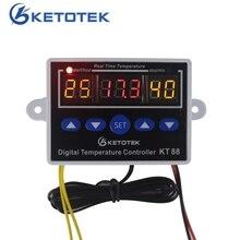 Цифровой термостат 12 В 24 В 110 V 220 V Контроль температуры; Контроль температуры Switch-19 ~ 99C Выход 10A 220 В AC