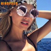 New Fashion Round Sunglasses Women Vintage English Letters Glasses Oculos De Sol Retro Sun glass For Ladies Gafas de sol