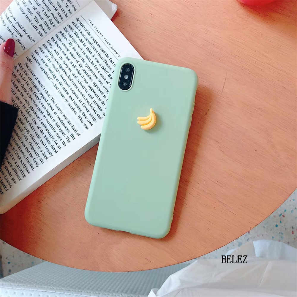3D fruit banaan perzik druif candy soft silicone case voor samsung galaxy S10 S11 S9 S8 PLUS S7 NOTE 9 a10 A50 A750 M10 leuke cover