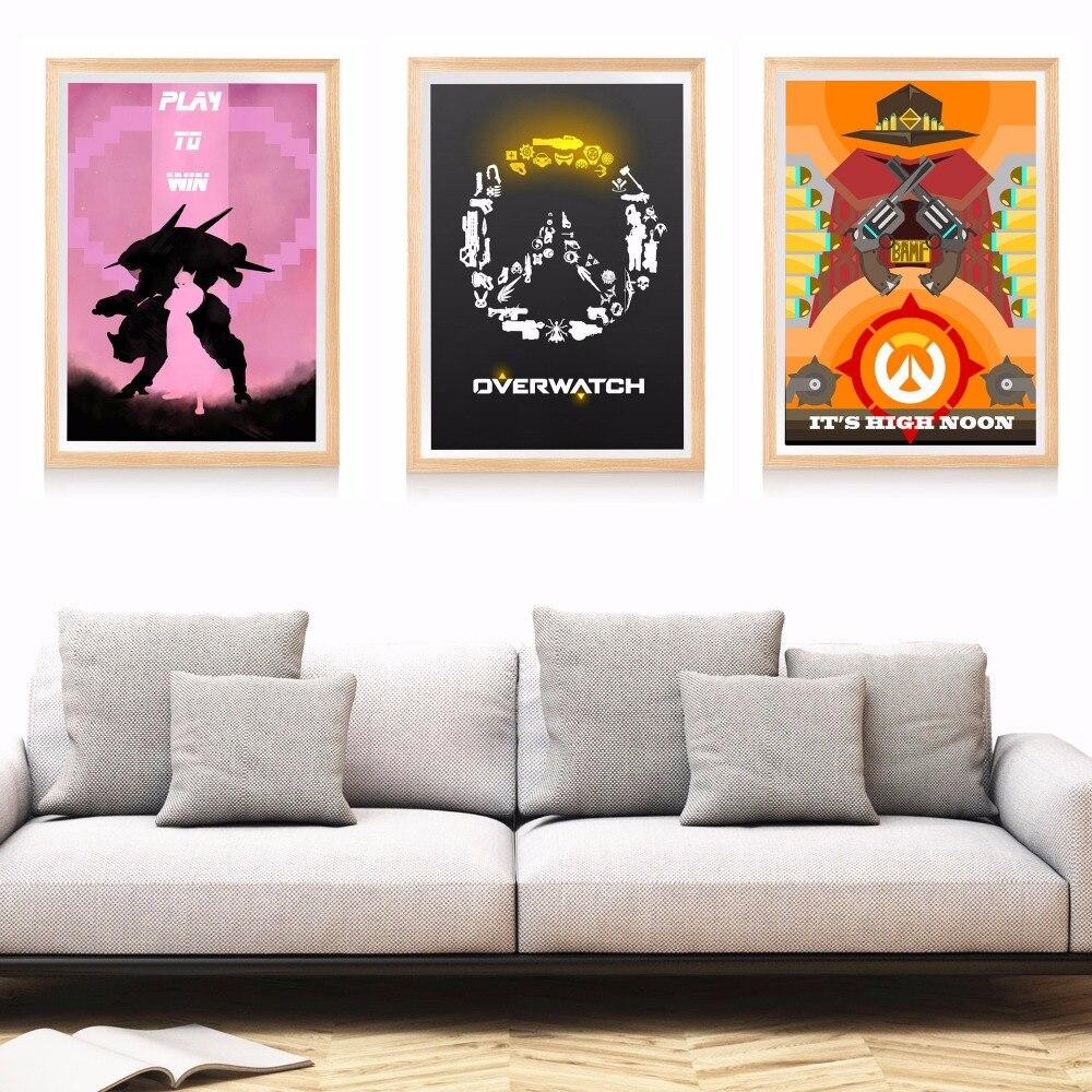 Overwatch juego ilustraciones lienzo impresión del arte pintura ...