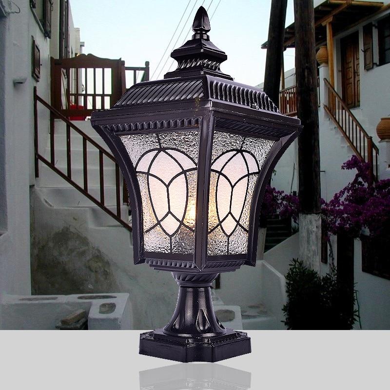 Us 57 06 26 Off Ilenbule Fashion Column Lighting Outdoor Waterproof The Door Lamps Dz02 In Landscape From Lights