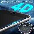 "Vidrio para iphone 7 4d 4d (nueva 3D) curva de La Cubierta Completa de Vidrio Templado Protector de Pantalla para iPhone7 6 6 S Plus 4.7 ""5.5"" pulgadas"