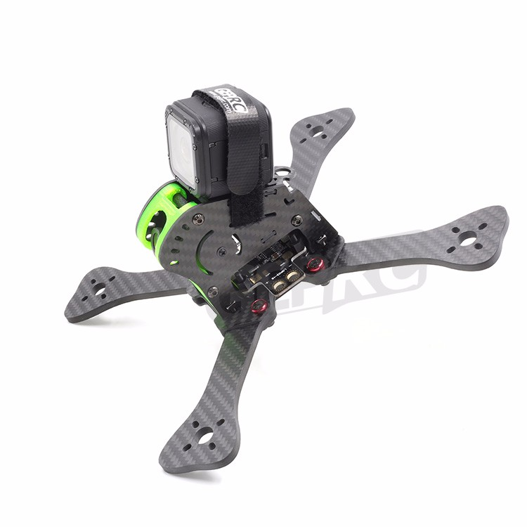 DIY GEPRC GEP-IX5 Fairy 3k carbon fiber frame 4mm arm frame w/ power board 3D printed spinner FPV quadrocopter 200mm 5045V2 prop geprc gep zx4 gep zx5 gep zx6 170mm 190mm 225mm 4 axis 3k carbon fiber frame kit with 12v 5v pdb board for rc multicopter