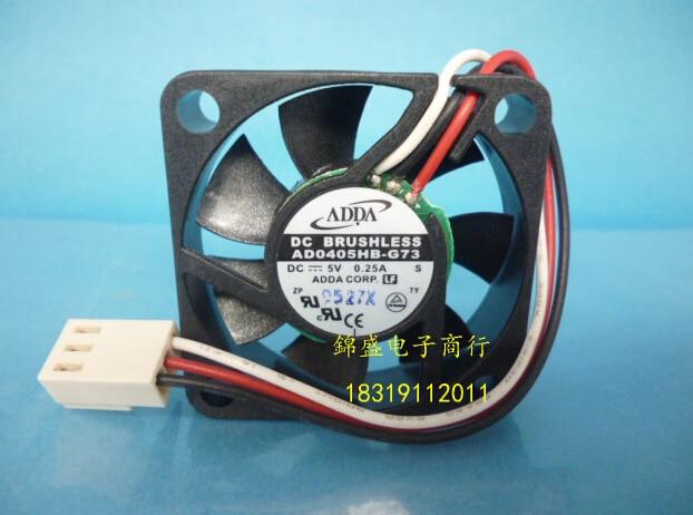 original ADDA 40*40*10 5V 0.25A AD0405HB-G73 3 line server fan