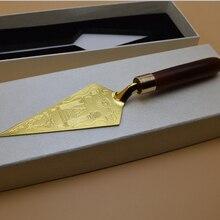 Масонский шпатель мастер масон, вольный каменщик гравировка сувенир ремесло в коробке для представления подарков украшение дома коллекция каменщика