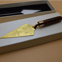 Masonic Trowel Master Mason Freemason Engraving Souvenir Craft in box for presenting Gifts home decoration free mason Collection