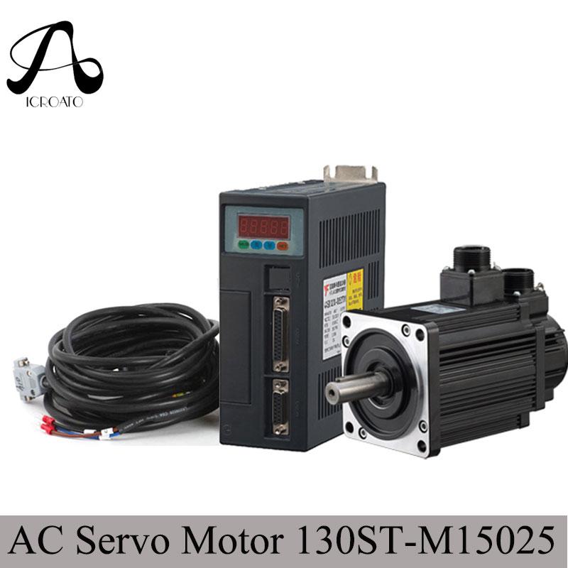 Free Shipping 3.8KW 380V ac servo motor 130ST M15025 servo motor 15N.M ac servo drive and motor стоимость