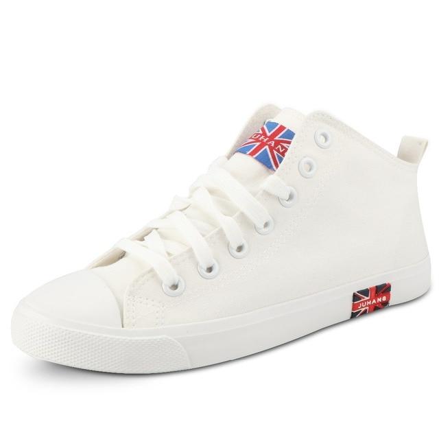 a88835e92f879 Femmes Vulcaniser Chaussures Mid Top Sneakers Femmes Chaussures Plates  Blanc Sneakers Toile Chaussures Casual De Tennis