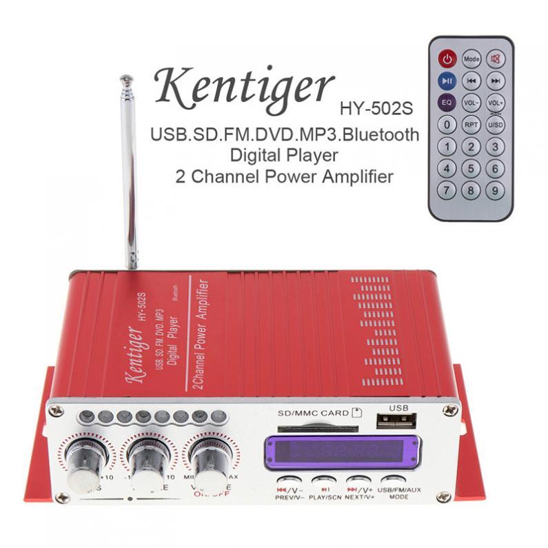 HY-502S-CH Auto Lettore Bluetooth HI-FI Super Bass Audio Digitale amplificatore Radio FM Stereo Player Supporto SD USB MP3 DVD ingresso
