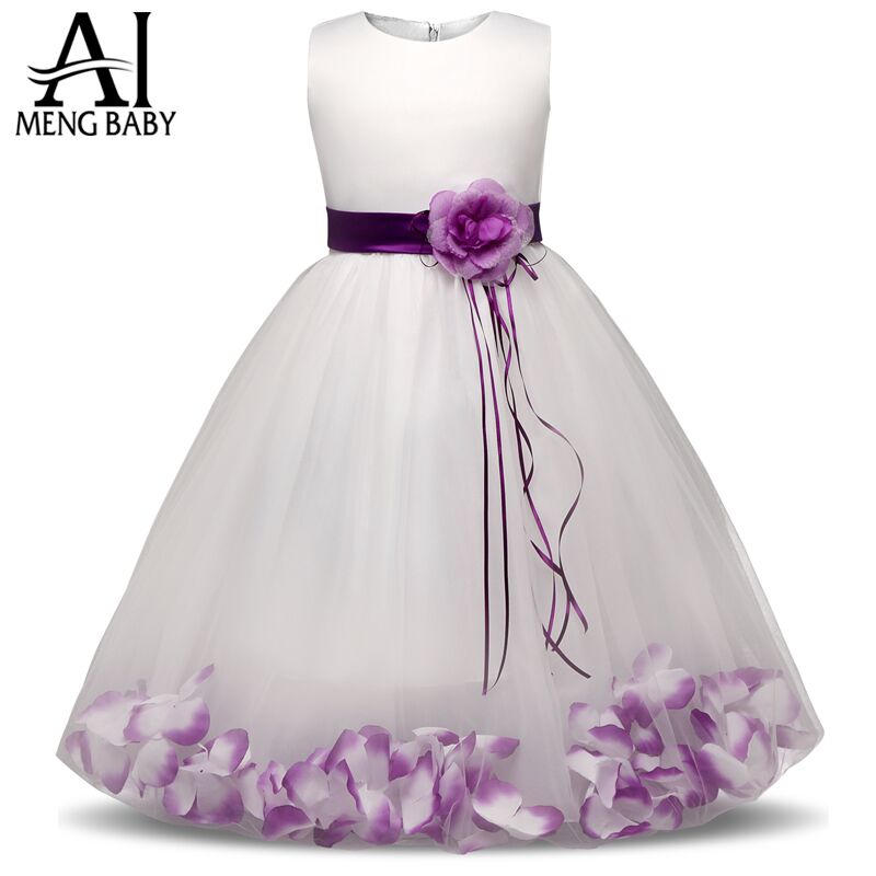 цена Ai Meng Baby 2018 Flower Children's Girl Costumes For kids Princess Party Wedding Dresses Girls Clothes Teen Girl Evening Dress