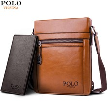 VICUNA POLO High Quality Theftproof Waxy Leather Brand Man Bag With Metal  Hasp Small Men s Crossbody 57eff58b5433c