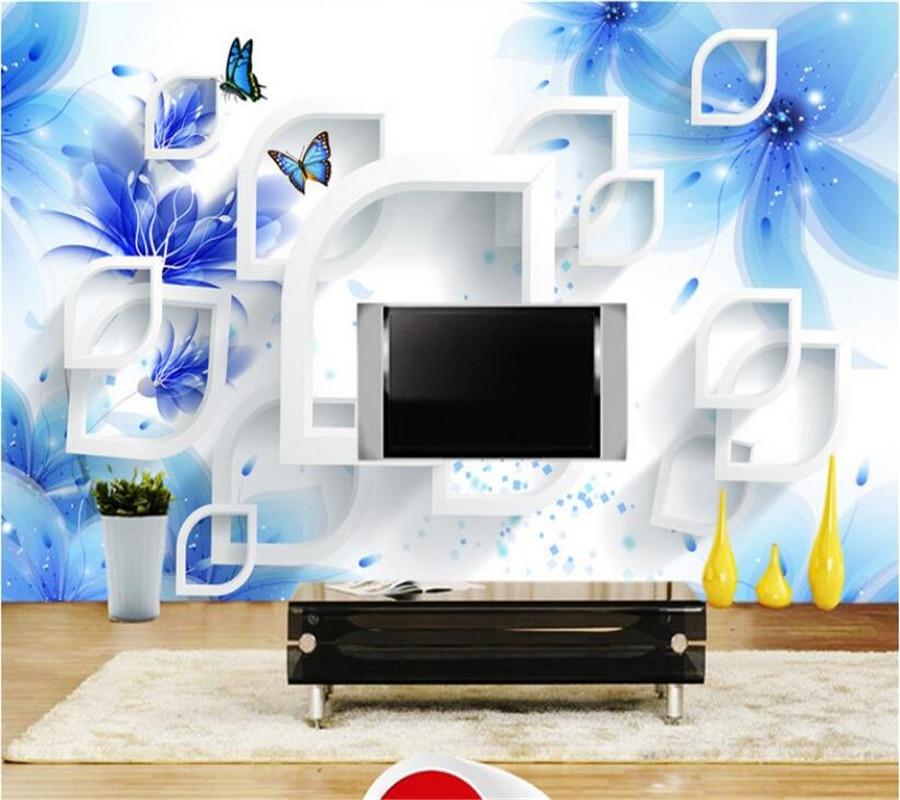 Beibehang Custom Wallpaper Living Room Bedroom Mural Dream Flower TV Background 3D Wallpaper mural photo wallpaper for walls 3 d