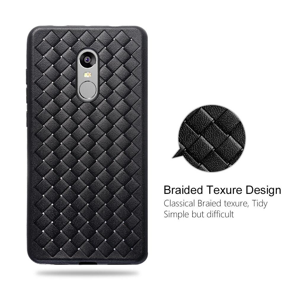 Proelio Ultra Thin Soft Silicone Weave Case For Xiaomi Redmi 4X 5X Note 4 5A Protector Phone Case For Redmi Note 4X Cover Coque  (2)