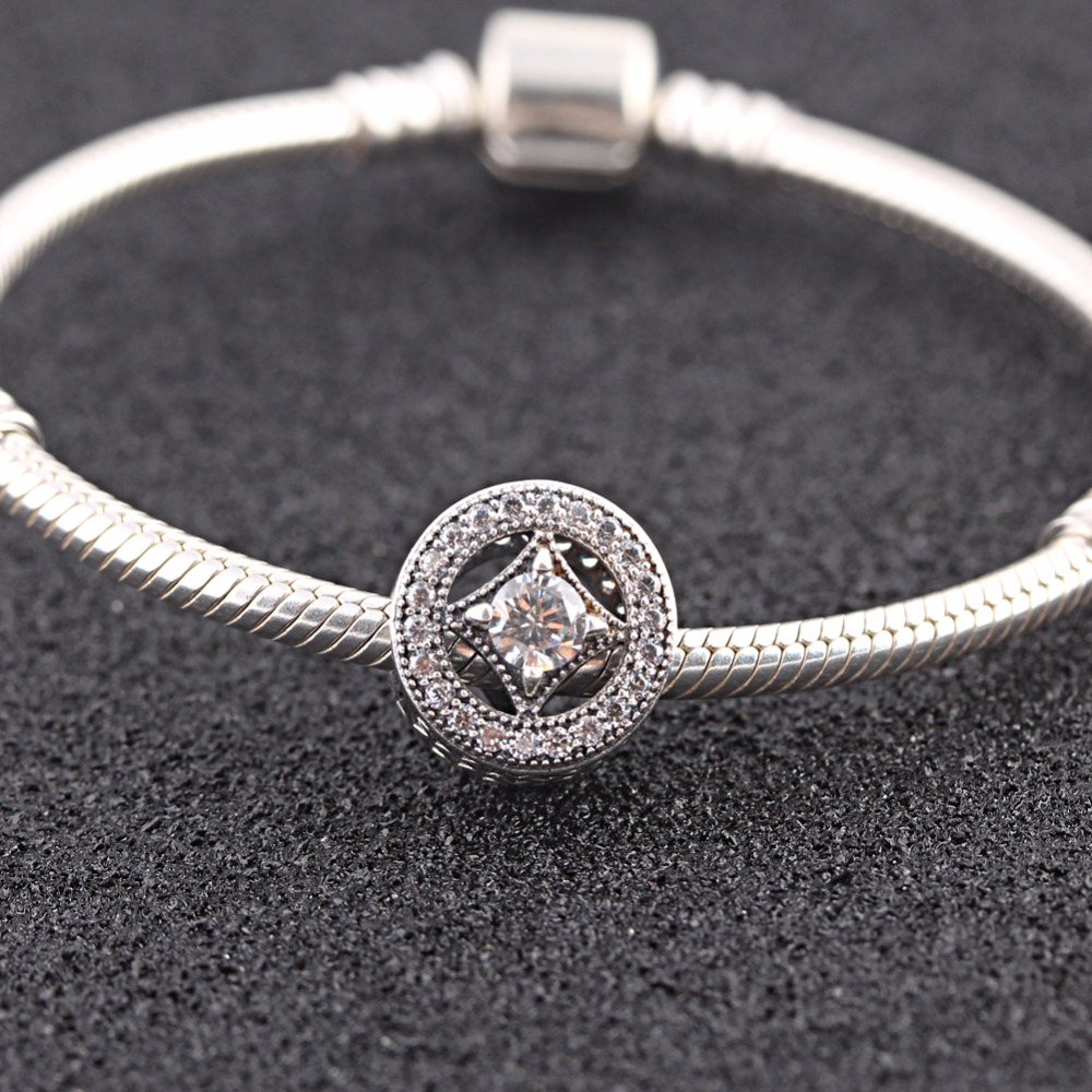 064496090 ... get endless story original 925 sterling silver charm vintage allure  clear cz fit pandora bracelet jewelry
