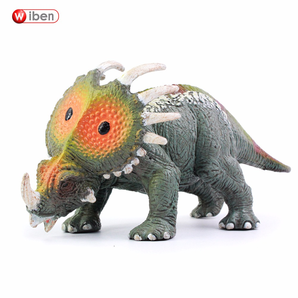 Wibenジュラシック高品質スティラコサウルス恐竜おもちゃ動物モデルアクション&おもちゃフィギュアおもちゃ子供のための男の子コレクション