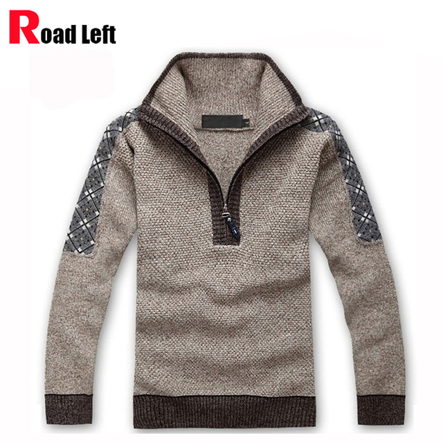 2015 Winter Sweater Men Turtleneck Casual Knitted Jumpers Sweaters Mens Long Sleeve Pullovers Brand Thicken Sweter Size M-XXXL