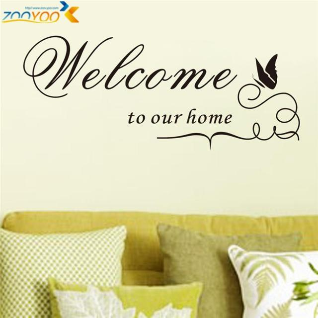 Welcome To Our Home Quotes Wall Decals for Living Room Decorative ...