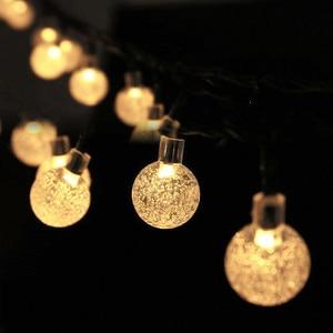 Image 4 - 5M 6.5M 7M 12M LED Solar Globe Bubble Ball String Lights 20/30/50/100LEDs Outdoor Waterproof Christmas Decor Ball Light String