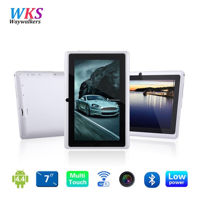 7 pulgadas Quad core Q88 1.5 GHz android 4.4 tablet pc Q8 allwinner A33 RAM 512