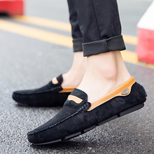 en Canvas Flock  Bottom Shoes Loafers High Quality Italy Brand Design Man Casual Peas Pumps Sneakers Classic Retro 5