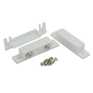 Image 5 - 10 Pcs Deur Contact Sensor Plastic Deur Open Alarm Magneet Detector Normaal Close Magnetische Schakelaar Security Accessoires