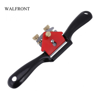 WALFRONT Adjustable Plane Spokeshave Woodworking Hand Planer Trimming Tools 9 Inch Wood Hand Cutting Edge Chisel Tool with Screw cutting tool