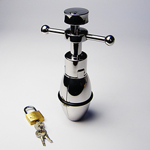 Anal Stainless Steel Stretching Anal Plug With Lock Ass Expanding