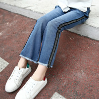 Girls Jeans Kids Clothes Bell Bottom Trousers 2018 Spring Autumn Denim Bells Girls Flares Girl Fashion