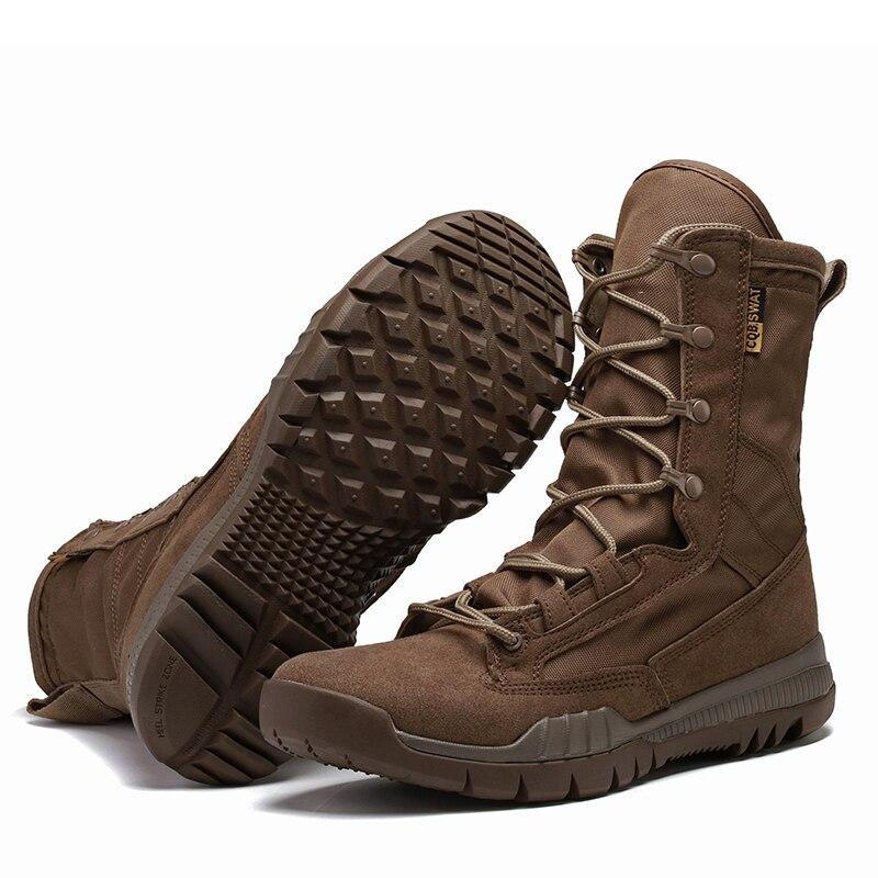 Hombres Zapatos Ligero Ultra Nueva Combate Los Black Lona Tácticos brown Negro Desierto Botas Respirables De Militares wXXT1PF