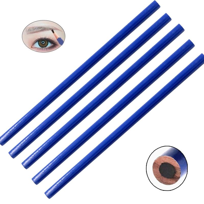5pcs Wood WATERPROOF Tattoo Eyebrow Design Pencil For Permanent Makeup Fashion Eye Cosmetics Eyebrow Liner Tools Eye Brow Pencil