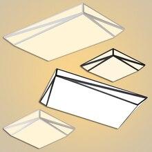 Luces de techo LED moderna Simplicidad Hierro Acrílico negro/blanco lámpara de techo para la sala de estar comedor dormitorio lampara techo