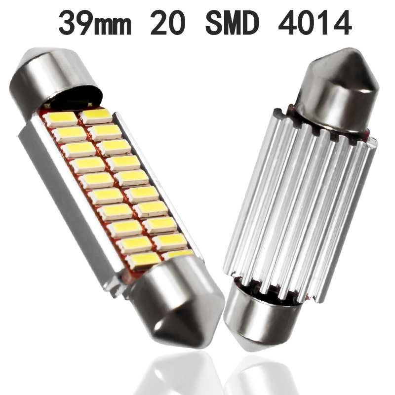 Festoon 31 Mm 36 Mm 39 Mm 42 Mm Bohlam LED C5W C10W Super Bright 4014 SMD CANBUS Kesalahan Gratis auto Interior Doom Lampu Mobil Styling Lampu