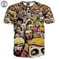 Mr.1991INC Черепа печатных футболки летние топы для мужчин/мальчик короткий рукав рубашки печати Ад призрак человек Хип-Хоп футболки G1062