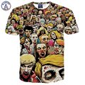 Mr.1991INC Skulls printed t-shirt summer tops for men/boy short sleeve t shirt print Hell ghost people Hip Hop Tshirts G1062