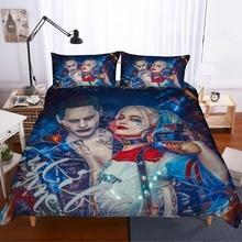 Suicide Squad 3D bedding set Harley Quinn comforter sets duvet cover Clown killer Super hero bed linen bedclothes