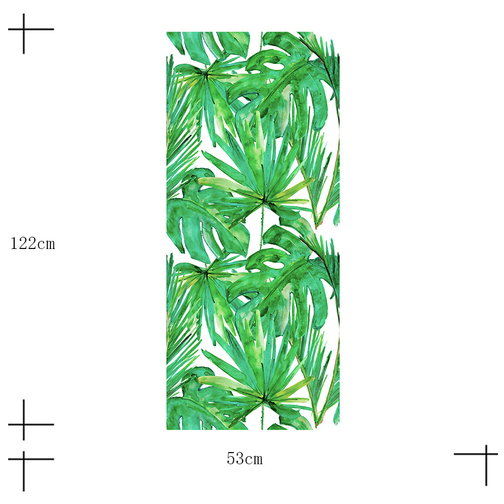 Nordic tropical leaves minimalist style 3D multi purpose sticker Waterproof non slip wear resistant wall stickers PVC stickers in Wall Stickers from Home Garden