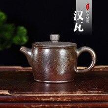 Полный ручной Заказной производитель кусок поколения волос чайник секция, глина высокая температура Fambe Han плитка горшок