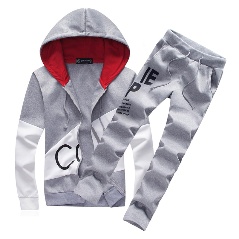 so cheap new cheap finest fabrics US $28.55 44% OFF|2018 brand sporting suit men warm hooded tracksuit track  polo men's sweat suits set letter print large size sweatsuit male 5XL-in ...