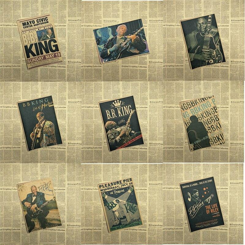 Vintage Poster B.B.KING Kraft retro nostalgia rock old poster guitarist Bruce BLUES retro poster